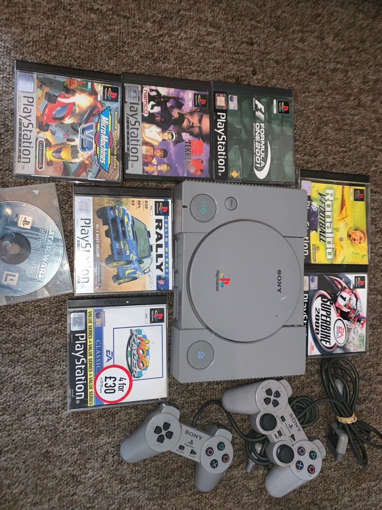 Original PlayStation with 8 games