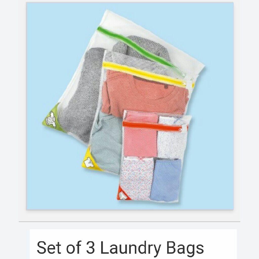 Set of three laundry bags