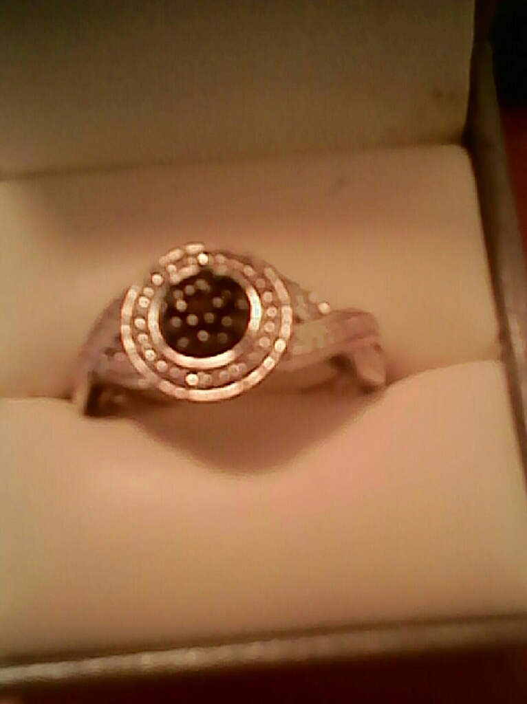 Genuine Black and White Diamond Ring...$70. Firm