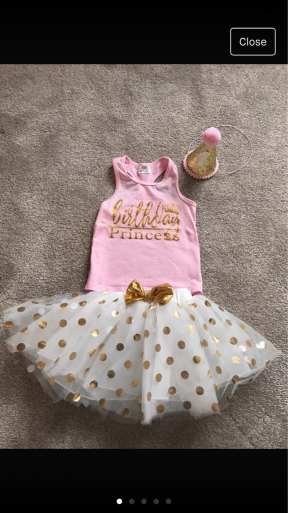 1st Birthday Girl Outfit