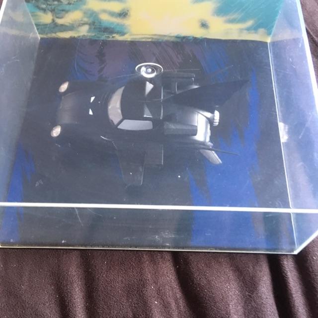 Batman vehicle in display case