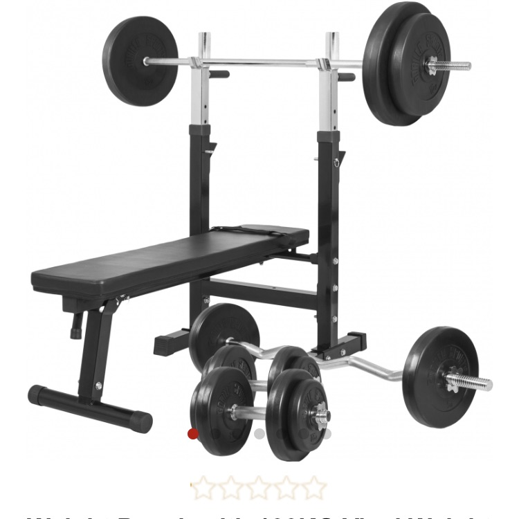 Weight bench and everything with it !!