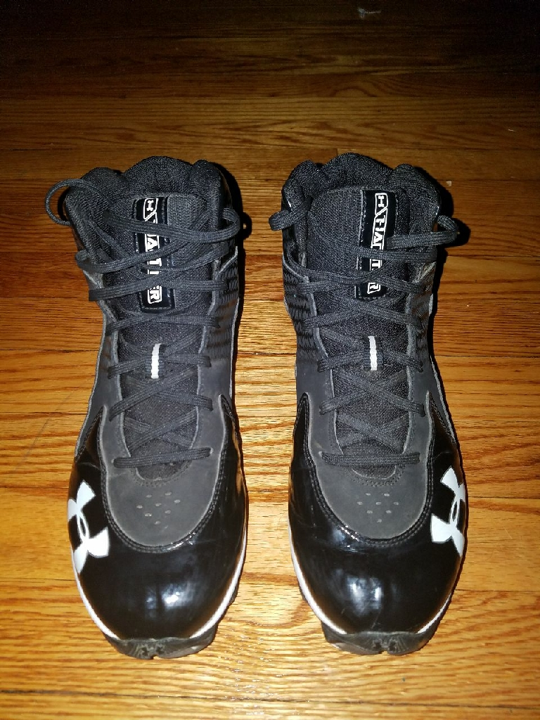 Black Under Armour Cleats