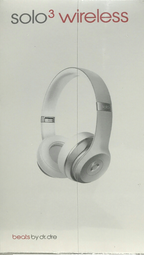 Silver Beats by Dre Solo3 Headphones