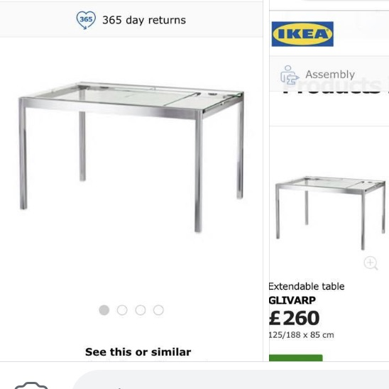 Ikea Glass Extending Table