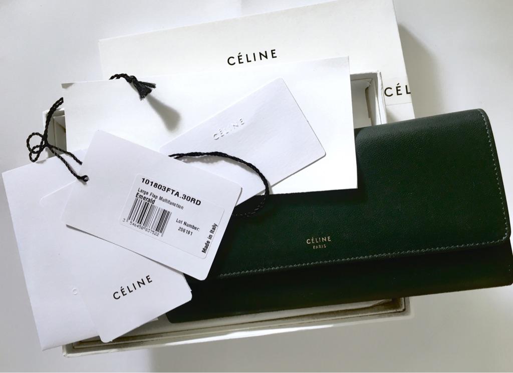 Céline Lambskin Large Flap  Multifunctional Long Wallet