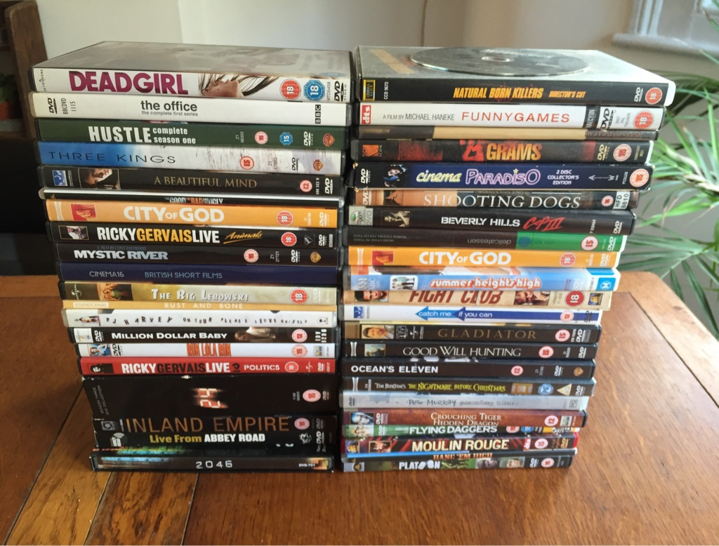 42 DVD's including films, box sets and music performance