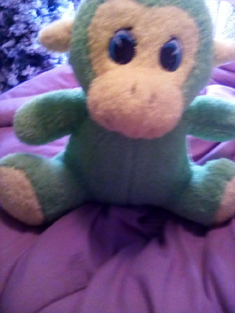 Green monkey plush