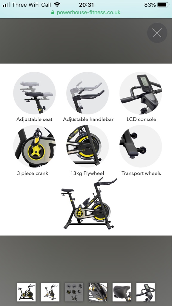 BodyMax Spin Bike B2 and Exercise Matt - as good as new.