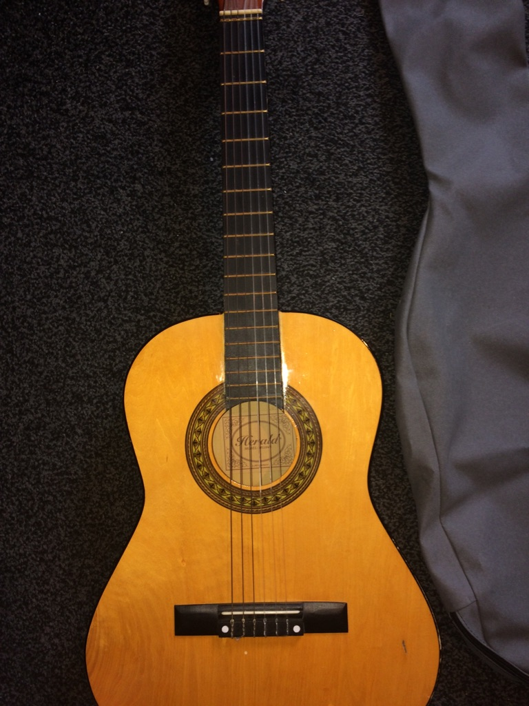 Herald acoustic guitar perfect condition