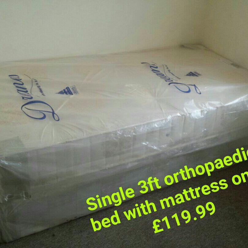 Single 3ft orthopaedic bed