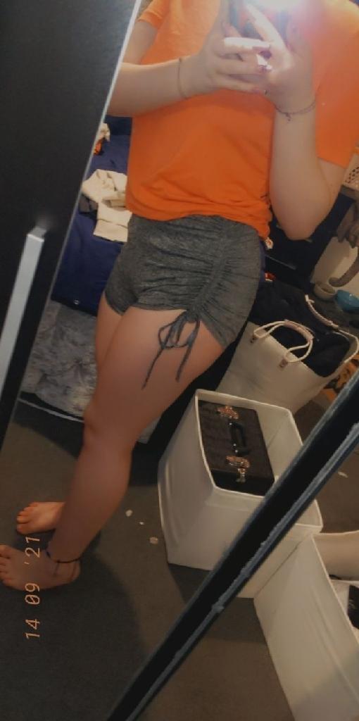 Gray booty shorts