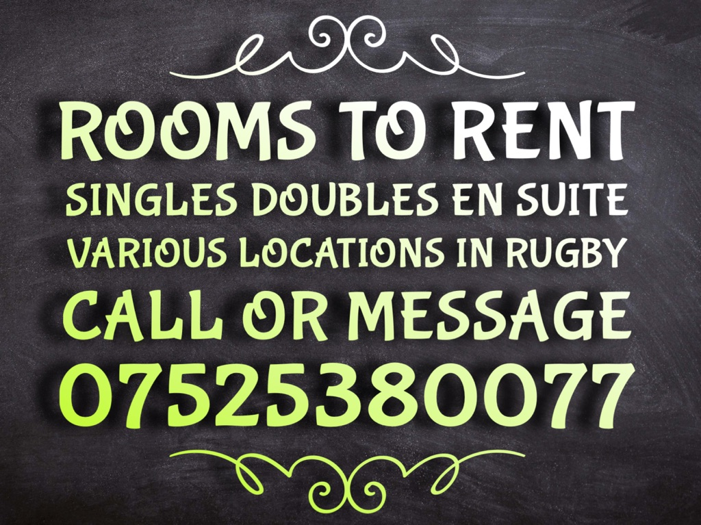 ROOMS TO RENT - MESSAGE FOR MORE INFORMATION