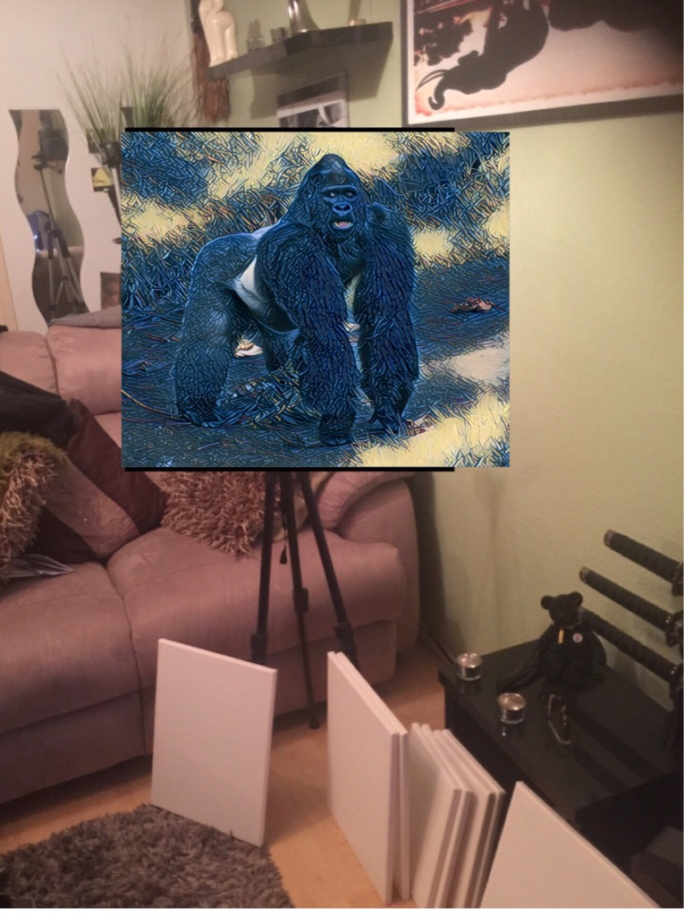 Silverback Gorilla 🦍 Canvas Wall Hanging ready to display