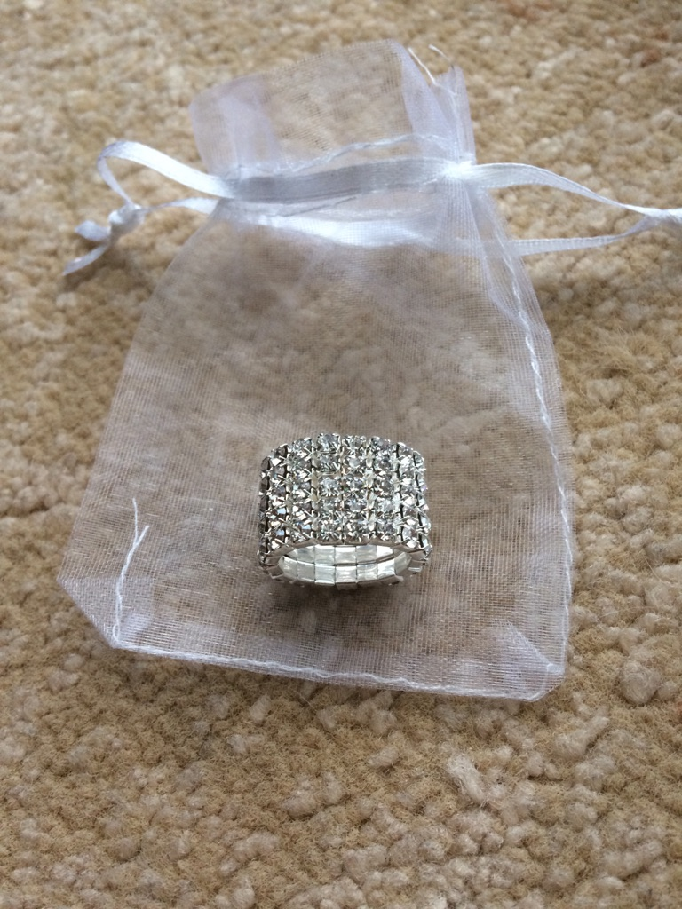 New Diamonte toe ring/ring