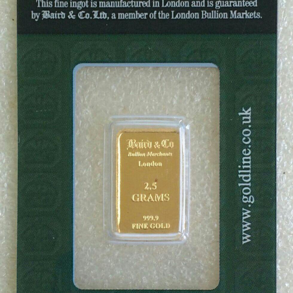 2.5g gold bullion bar