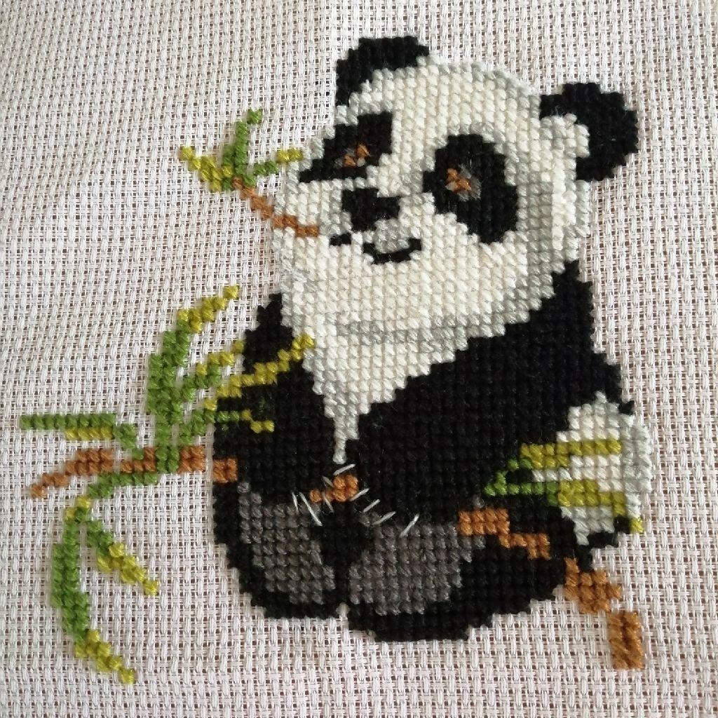 Cute Panda Cross Stitch picture