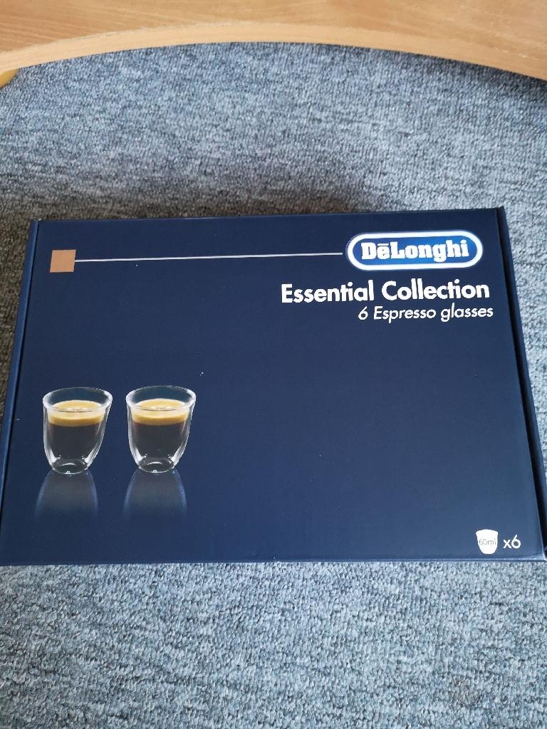 6 glasses espresso DeLonghi
