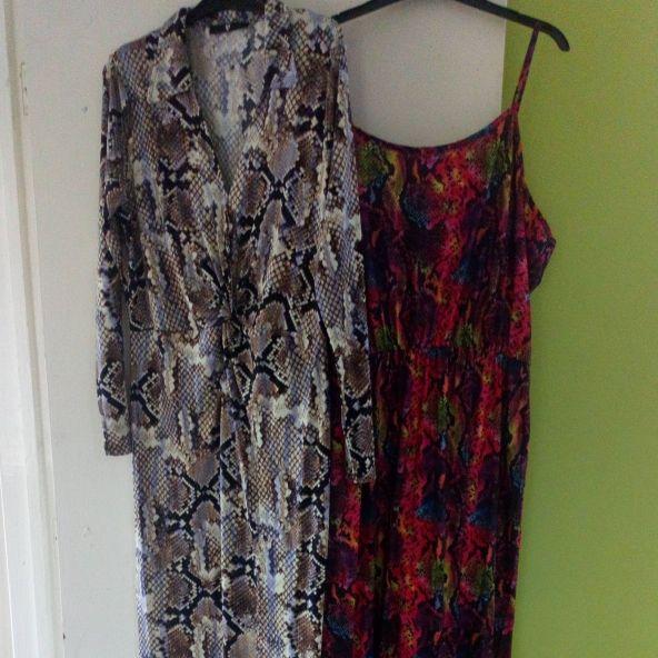 2 X ladies Dresses full length size 18