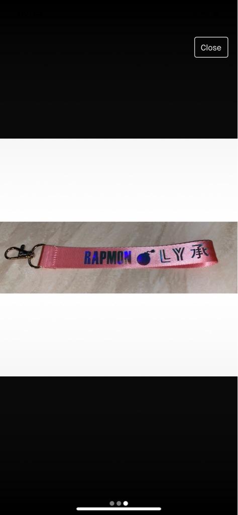 BTS Rapmon Ly key ring
