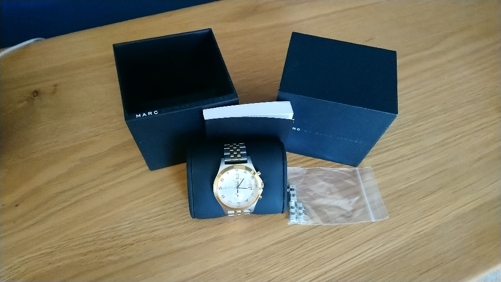 Mark Jacobs two tone watch.