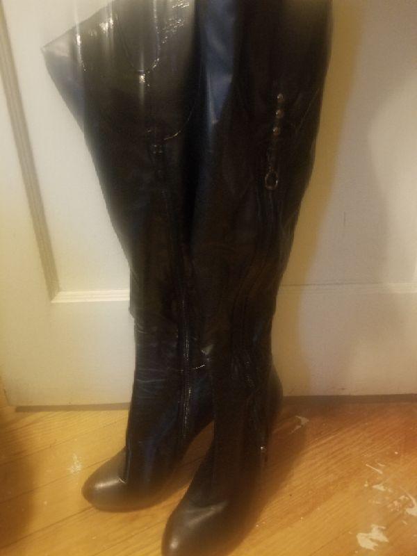 Women's size 9 thigh high heel boots