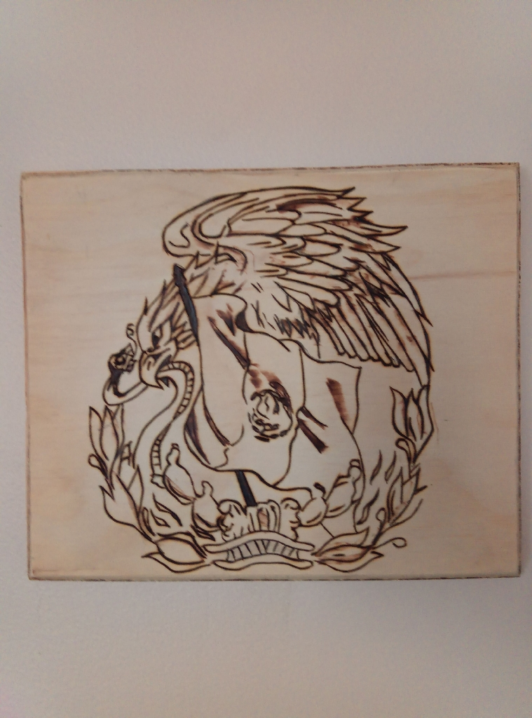 Wall decoration Wood burned art