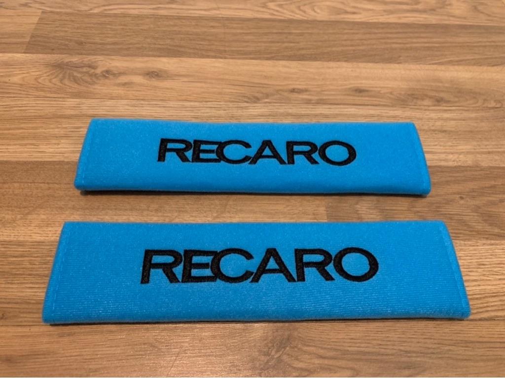 2X Seat Belt Pads Blue Gifts Recaro Sport Bucket Seats Motorsport Race Rally GP