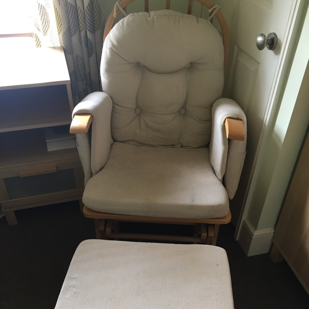 Nursing rocking chair and stool