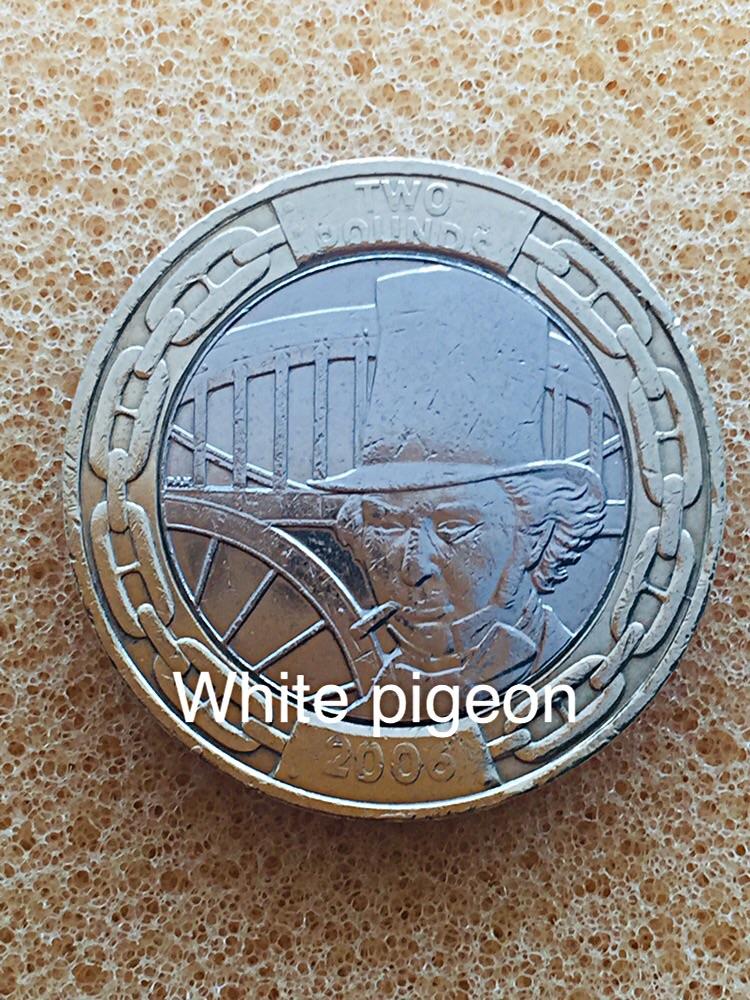 2 pounds coin isambard kingdom Brunel 2006.