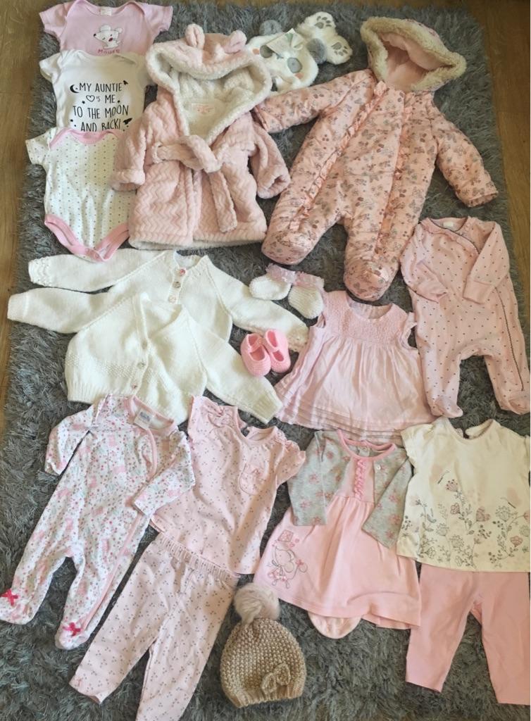 0-3 Girls Clothes Bundle