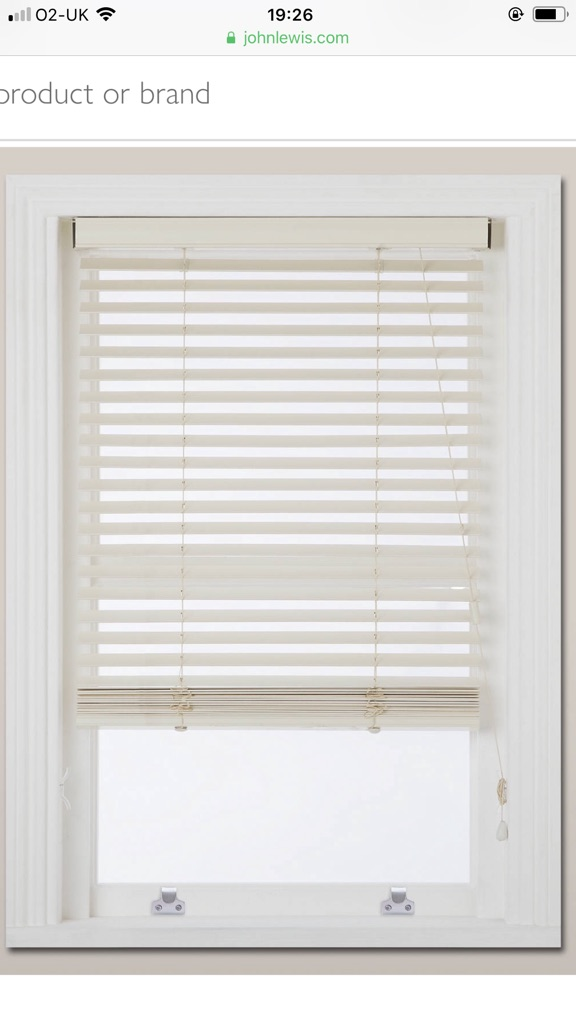 John Lewis Wood White Venetian Blinds RRP £85