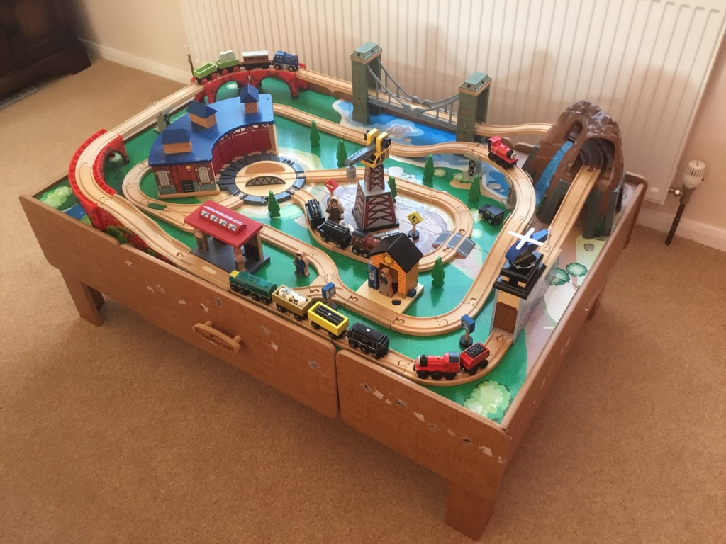 Imagination Mountain Rock Train Table