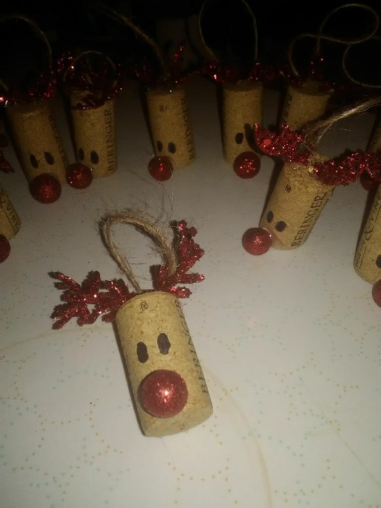 Rudolph cork ornaments