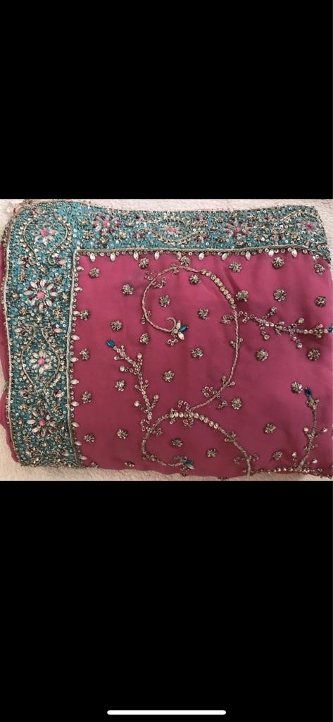 NEW Pink Saree