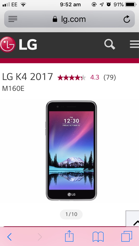 LG 4K 2017 android phone