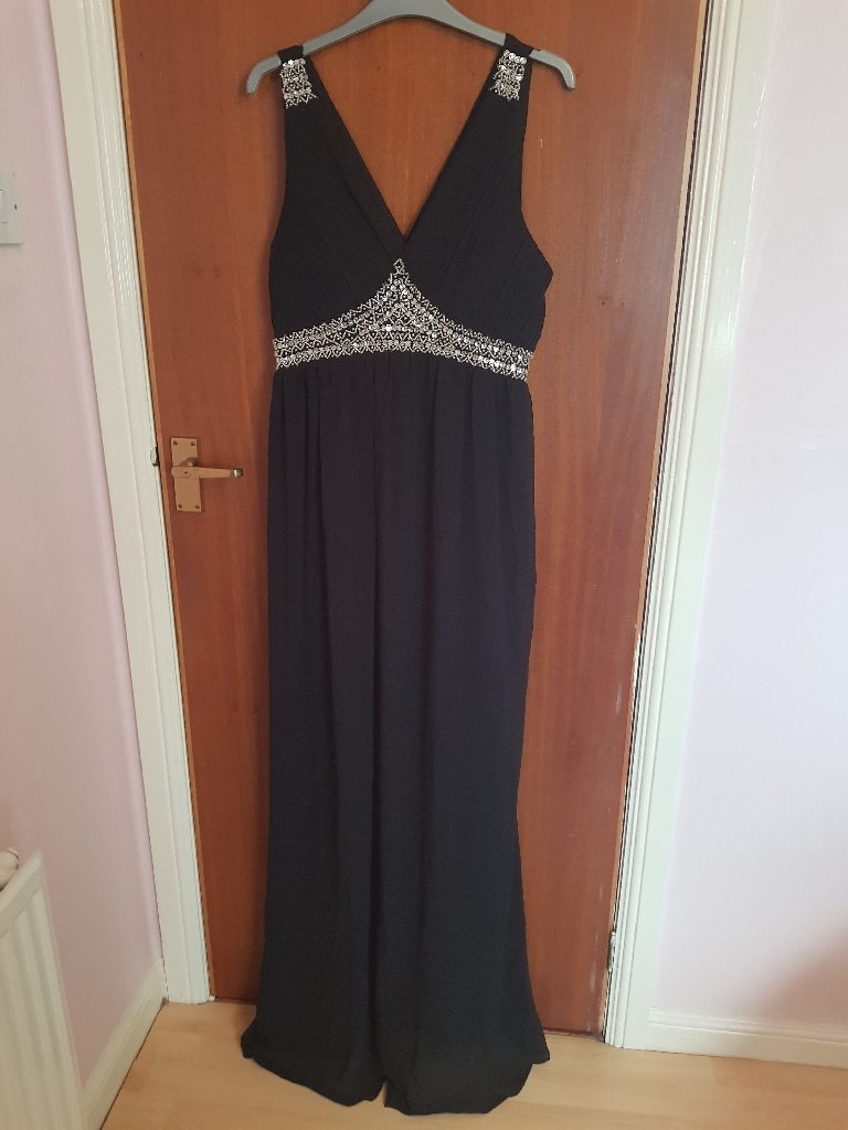 Long black maxi dress