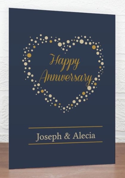 Personalised 'gold confetti' greeting card