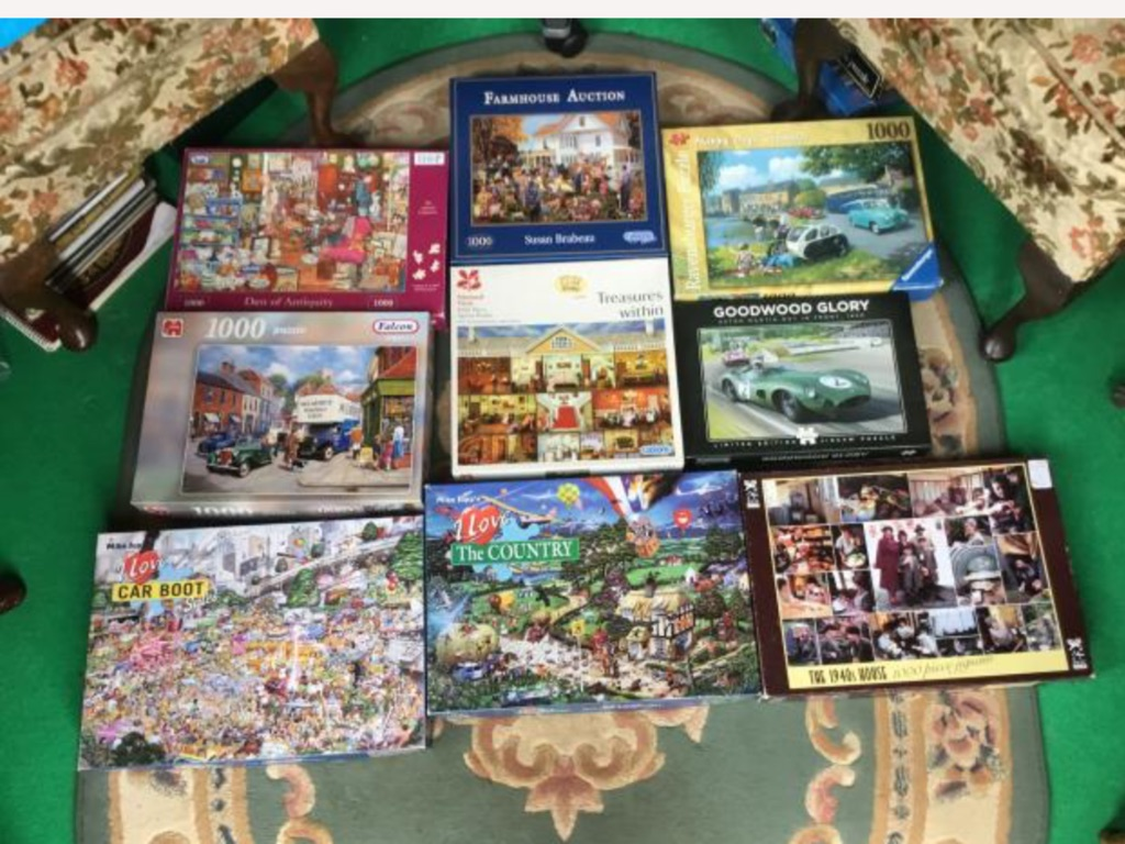 13 1000 pieces puzzles complete sealed bag inside 1.50p each chose what you want