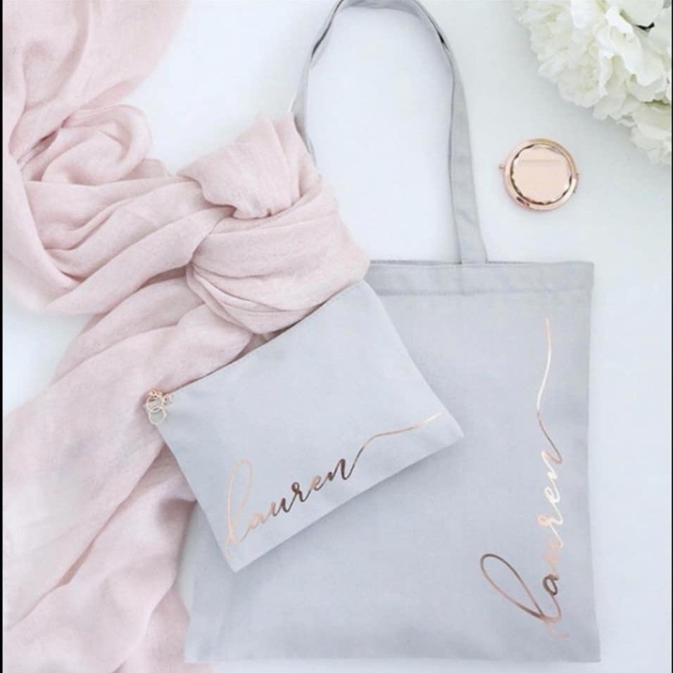 Bag and matching make up bag