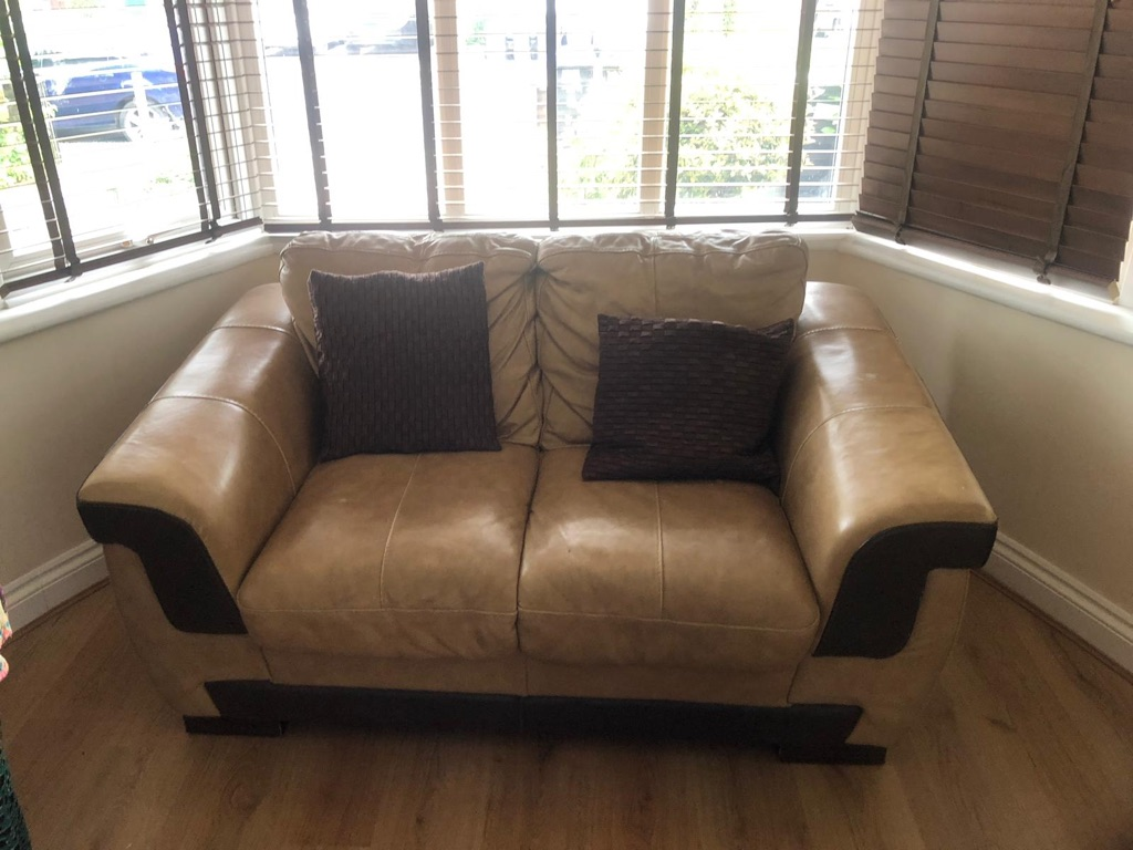 DFS Leather Sofa Set
