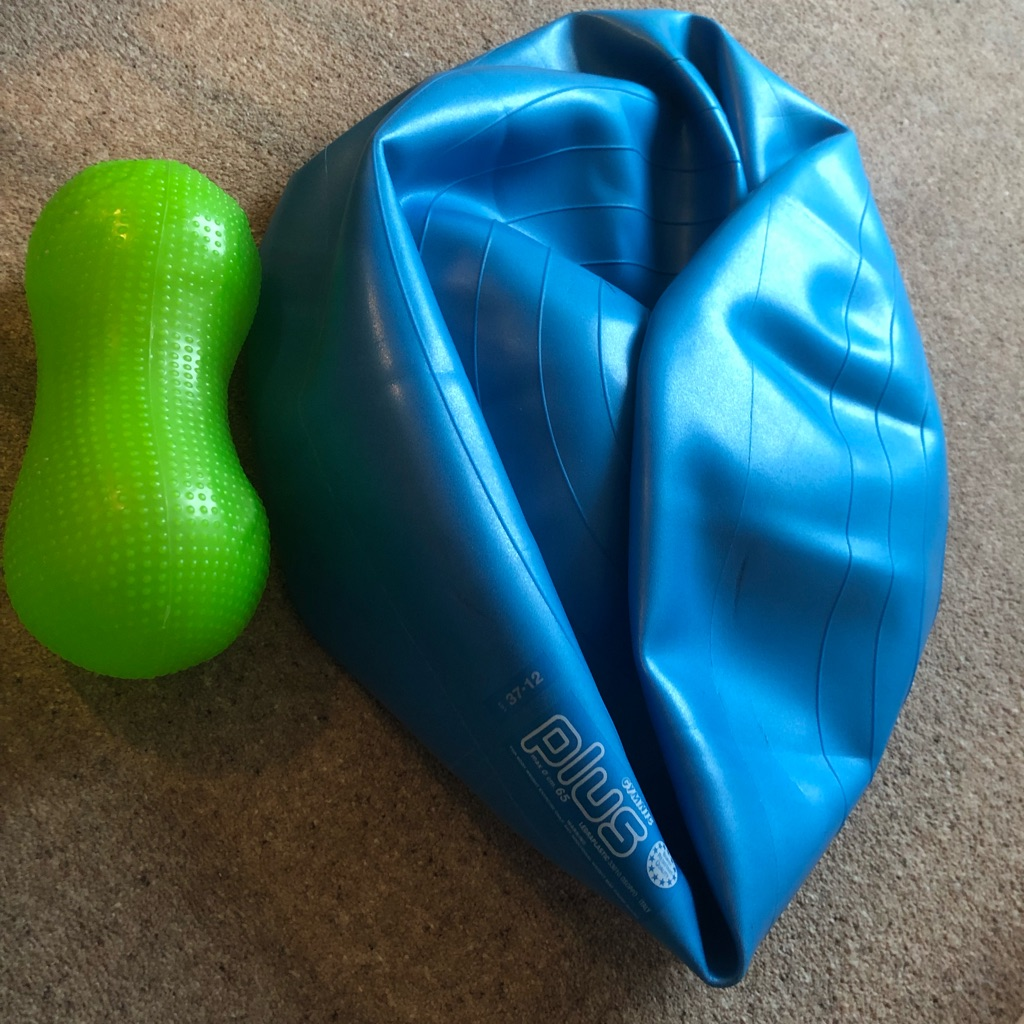 EXERCISE BALL WITH FREE BACK CUSHION