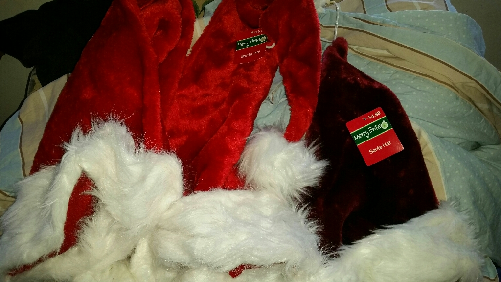 New! Santa and Elf hats