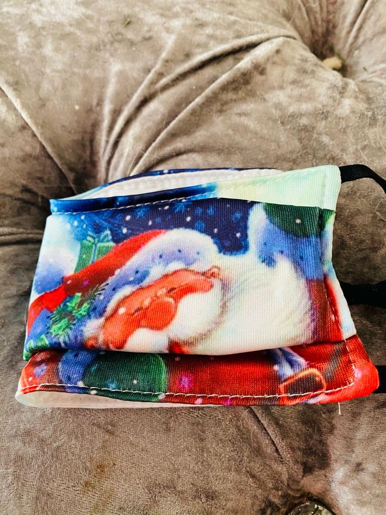 Christmas Santa Face mask multicoloured reusable