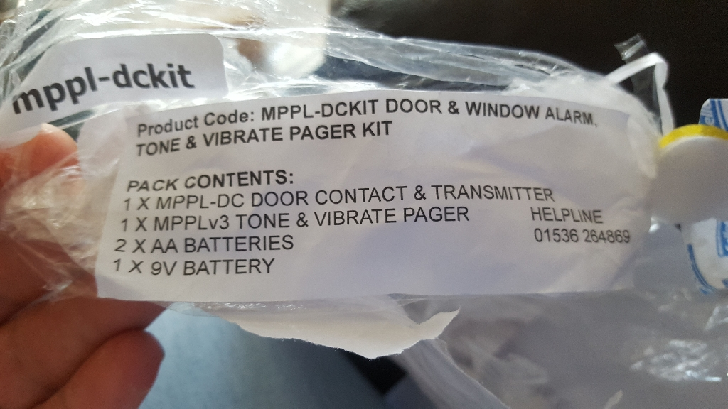 Med page door or window sensor with pager