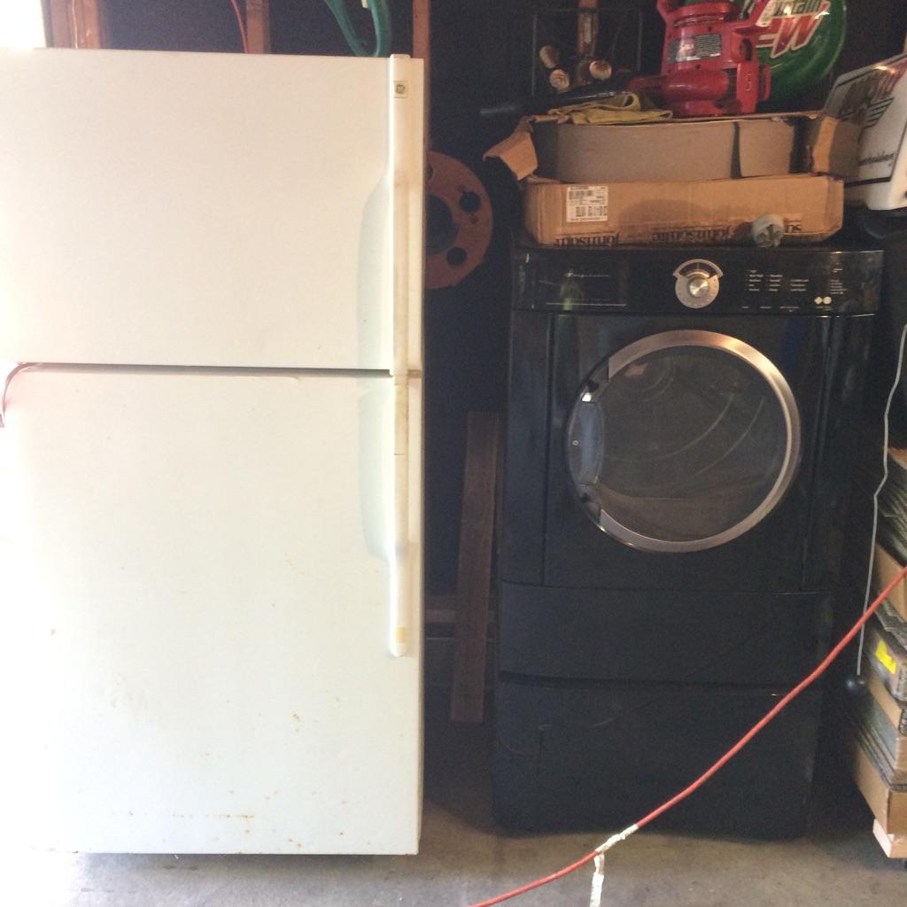 Fridge and dryer