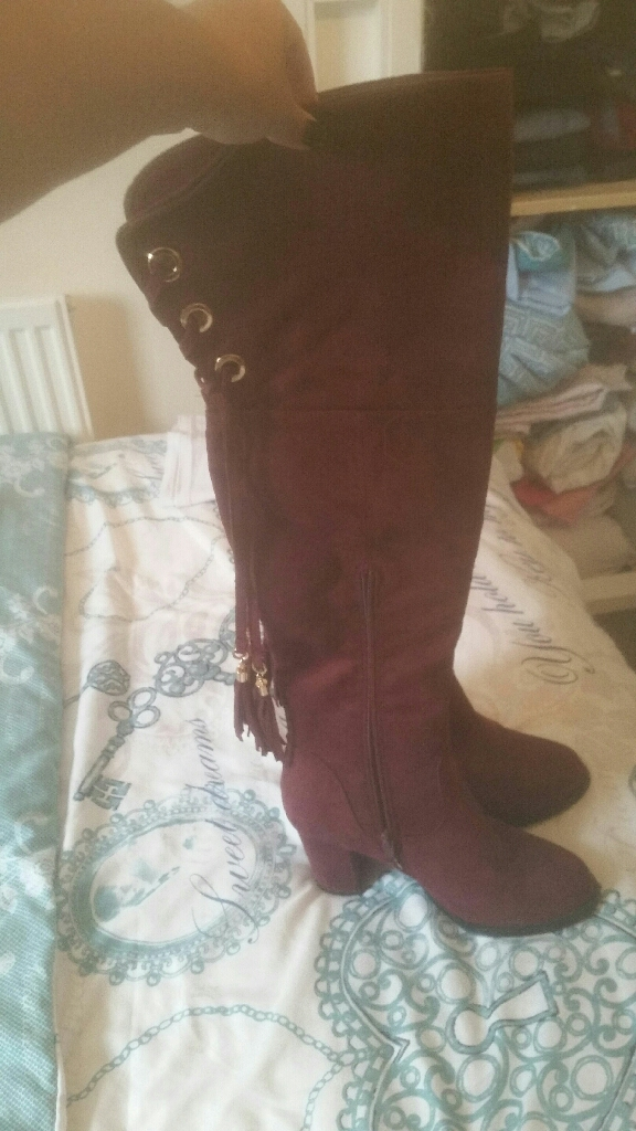 Over knee boots size 4