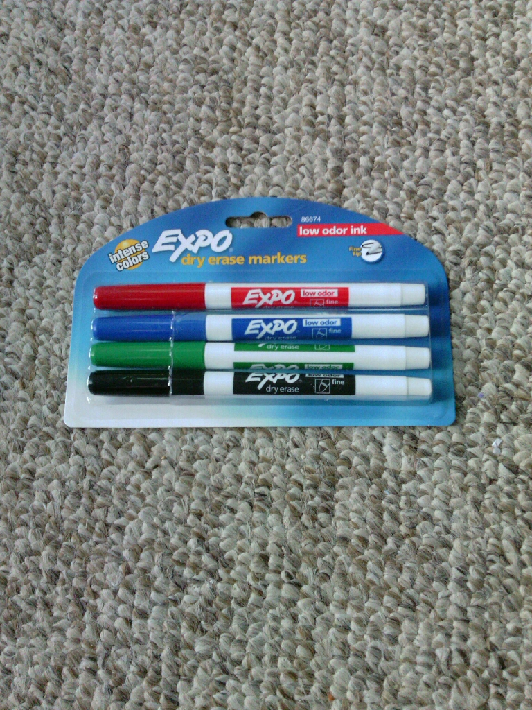 4 count pack of Expo Dry Erase Markers
