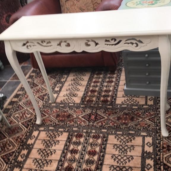 Cream hall table