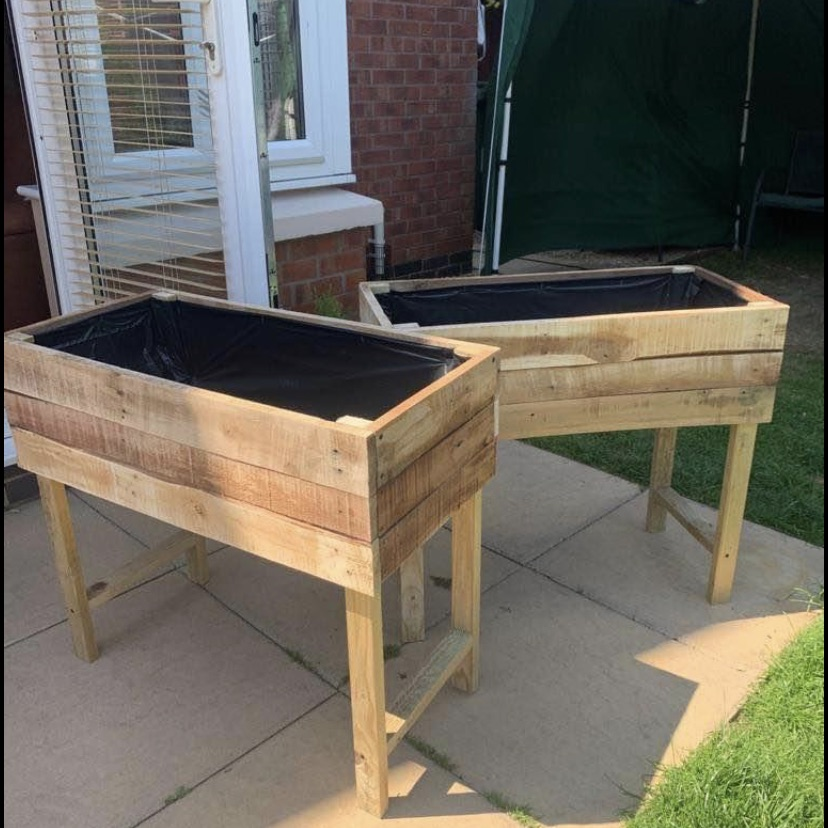 Handmade wooden garden planters(one is £25 or two for £40)